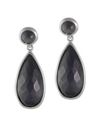 Karen Kane | Black Tranquil Water Teardrop Earrings | Lyst