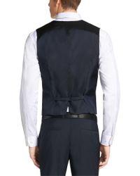HUGO | Blue Waistcoat In New Wool: 'wel' for Men | Lyst