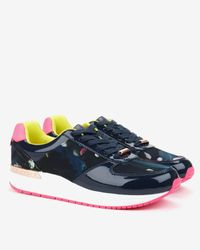 Ted Baker | Blue Printed Trainers | Lyst
