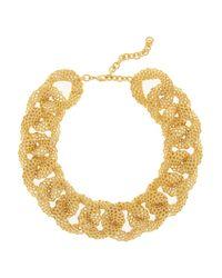 Balmain - Metallic Goldtone Chain Link Choker - Lyst