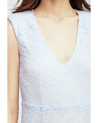 Forever 21 - Gray Floral Lace Bodycon Dress - Lyst