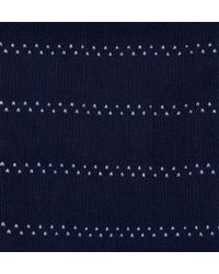 Sunspel | Blue Men's Long-staple Cotton Patterned Socks In Navy / White Pin Dot Stripe for Men | Lyst