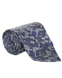 Liberty - Blue Grey Wallflower Silk Tie for Men - Lyst