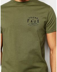 Friend or Faux - Green T-shirt Panther Print for Men - Lyst