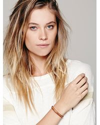 Free People | Brown All in A Word Leather Bracelet | Lyst