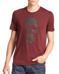 The Kooples | Red Skull Graphic Tee for Men | Lyst