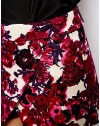 ASOS - Pink Skort in Bold Floral Print - Lyst