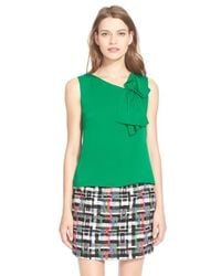 MILLY - Green Silk Origami Bow Shell - Lyst