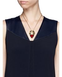 Scho - Metallic Triangle Glass Bead Pendant Necklace - Lyst