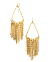 BaubleBar - Metallic 'aretha' Fringe Drop Earrings - Lyst