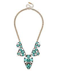 BaubleBar - Blue Gemstone Bali Bib - Lyst