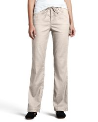 NYDJ - Natural Lindsey Wide-leg Linen Pants - Lyst