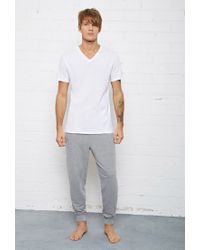 Forever 21 - White Bread And Boxers Relaxed V-neck Tee for Men - Lyst