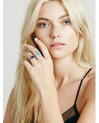 Free People | Metallic Caged Cuff Ring | Lyst