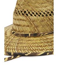 Forever 21   Yellow Camo-trimmed Straw Breezer Hat You've Been Added To The Waitlist   Lyst