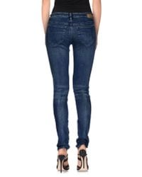 DIESEL | Blue Denim Trousers | Lyst