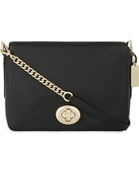 COACH | Black Turnlock Shoulder Bag | Lyst