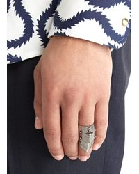 Vivienne Westwood - Metallic Armour Gunmetal Articulated Ring for Men - Lyst