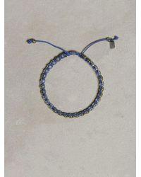 John Varvatos - Metallic Single Row Skull Bracelet for Men - Lyst
