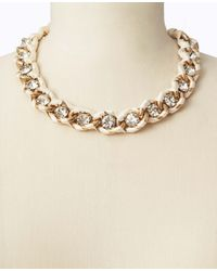 Ann Taylor | Natural Crystal Ribbon Wrapped Short Necklace | Lyst