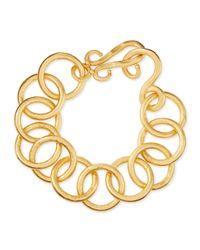 Stephanie Kantis - Metallic 24k Gold-plated Bronze Classic Link Bracelet - Lyst