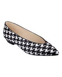 Nine West | Black Trophywife Pointy Toe Flats | Lyst