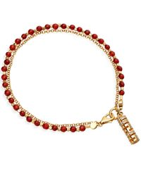 Astley Clarke - Metallic Gold-plated Agate Double Happiness Biography White Sapphire Bracelet - Lyst