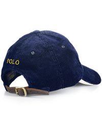 Polo Ralph Lauren - Blue Corduroy Sports Cap for Men - Lyst
