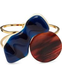 Marni | Red Irregular-cut Resin And Gold-plated Brass Bracelet | Lyst