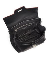 Prada - Black Toro Top-handle Satchel - Lyst