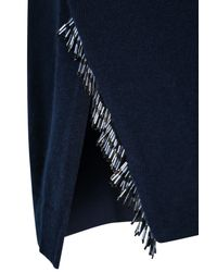 Dorothee Schumacher - Blue Fringe Fanatic Pullover O-neck 1/1 - Lyst