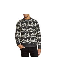 PS by Paul Smith | White Palm Tree Print Sweatshirt for Men | Lyst