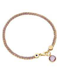 Astley Clarke | Purple Biography 18ct Gold Vermeil Woven Friendship Bracelet | Lyst