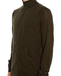 Helmut Lang - Green Quarter-Seam Wool Cardigan for Men - Lyst