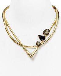 "Alexis Bittar | Metallic Miss Havisham Geometric Hinge Collar Necklace, 16"" | Lyst"