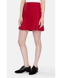 Karen Millen | Pink Wool Mini Skirt | Lyst