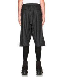 Public School | Gray Melange Knit Basic Shorts | Lyst