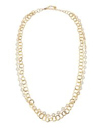 R.j. Graziano - Metallic Double-row Chain Necklace - Lyst