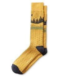 Banana Republic | Yellow Scenic Sock for Men | Lyst