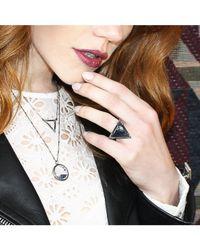 Adornia - Blue Sapphire Shaker Pendant Tribute Necklace - Lyst