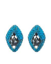 Atelier Swarovski - Blue St James Stud Earrings - Lyst