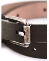 Alexander McQueen - Green Double Wrap Skull Bracelet for Men - Lyst