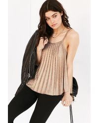 Silence + Noise | Metallic Get Glam Cami | Lyst