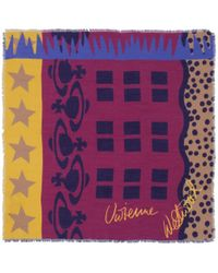 Vivienne Westwood - Purple Abstract Multi Print Scarf - Lyst