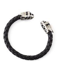 M.c.l  Matthew Campbell Laurenza | Black Crown-cap Leather Cuff for Men | Lyst
