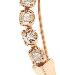 Loren Stewart | Metallic White-Diamond & Rose-Gold Earring | Lyst