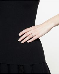 Bijules | Metallic Silver Moonset Ring With Pearls | Lyst