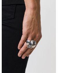 Alexander McQueen | Metallic Puzzle Skull Ring for Men | Lyst