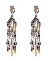 Lulu Frost - Metallic Silver-plated Citadel Chandelier Earrings - Lyst