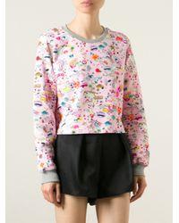 Markus Lupfer - Pink Allover Print Sweatshirt - Lyst